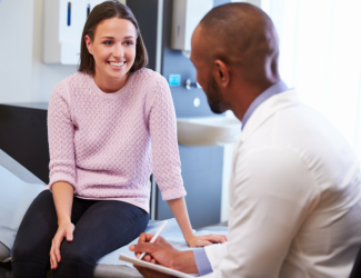 female patient and doctor have consultation